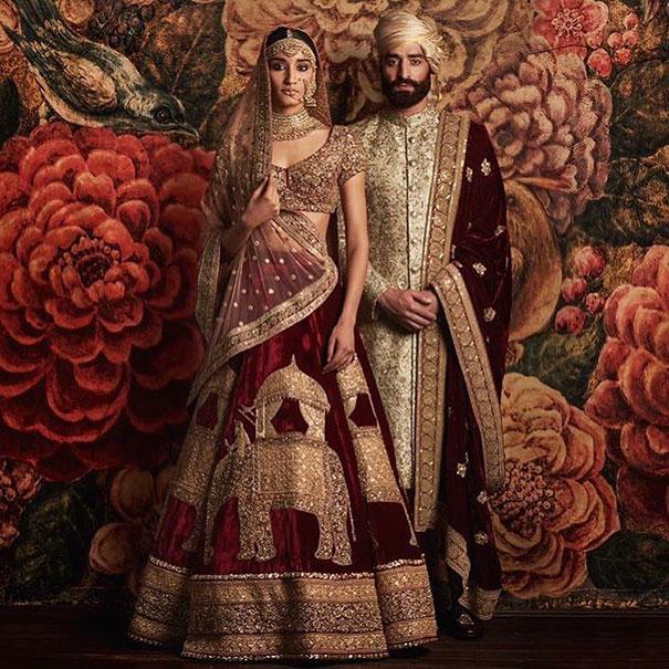 Свадебный индийский наряд