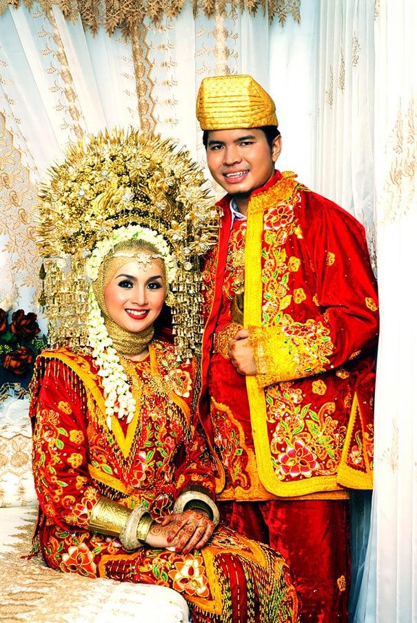 Свадебный наряд в Индонезии