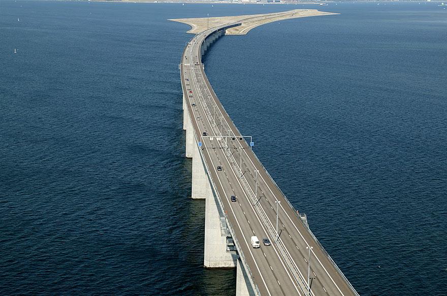 Мост между Данией и Швецией сегодня