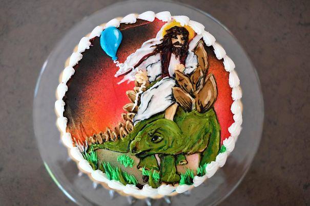 Шуточный торт на день рождения
