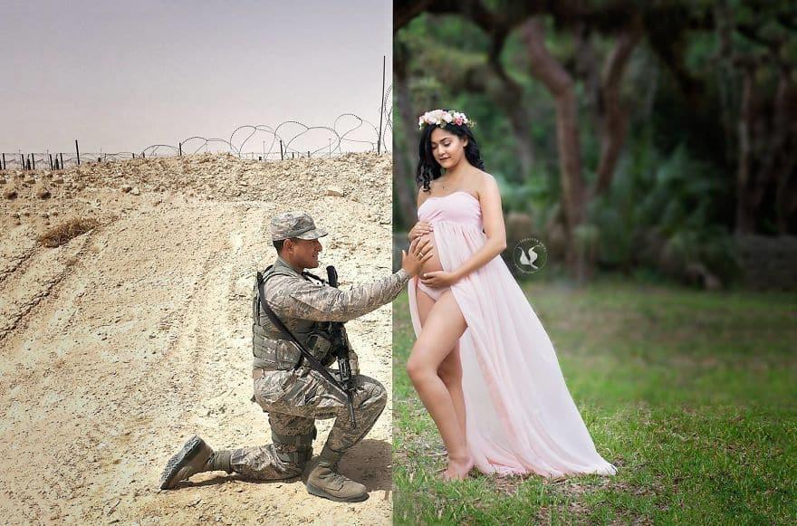 Виртуальное свидание с беременной женой