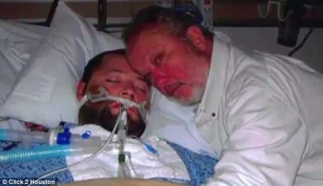Отец спас сына