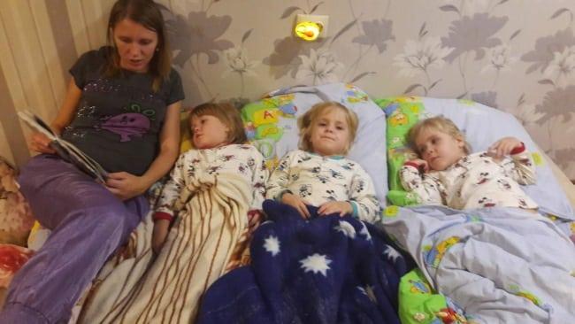 Малыши в постели
