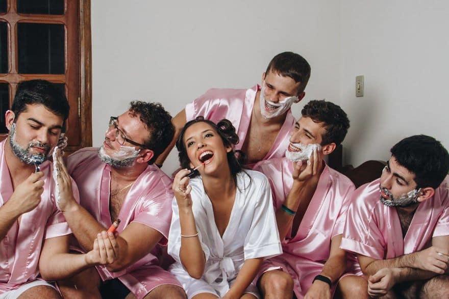 Свадебная фотосессия с мужиками