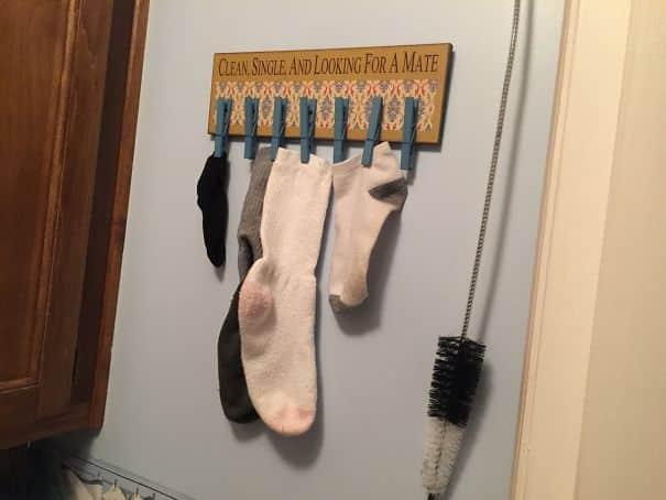Носки в ванной