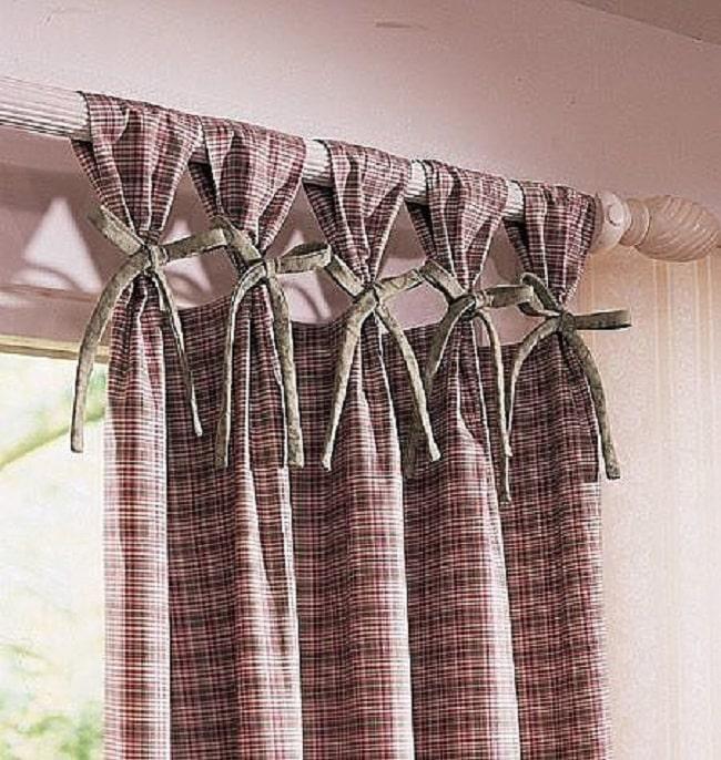 шторы на окнах с завязками