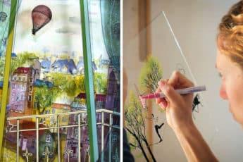 Потрясающие 3D-витражи на стеклах