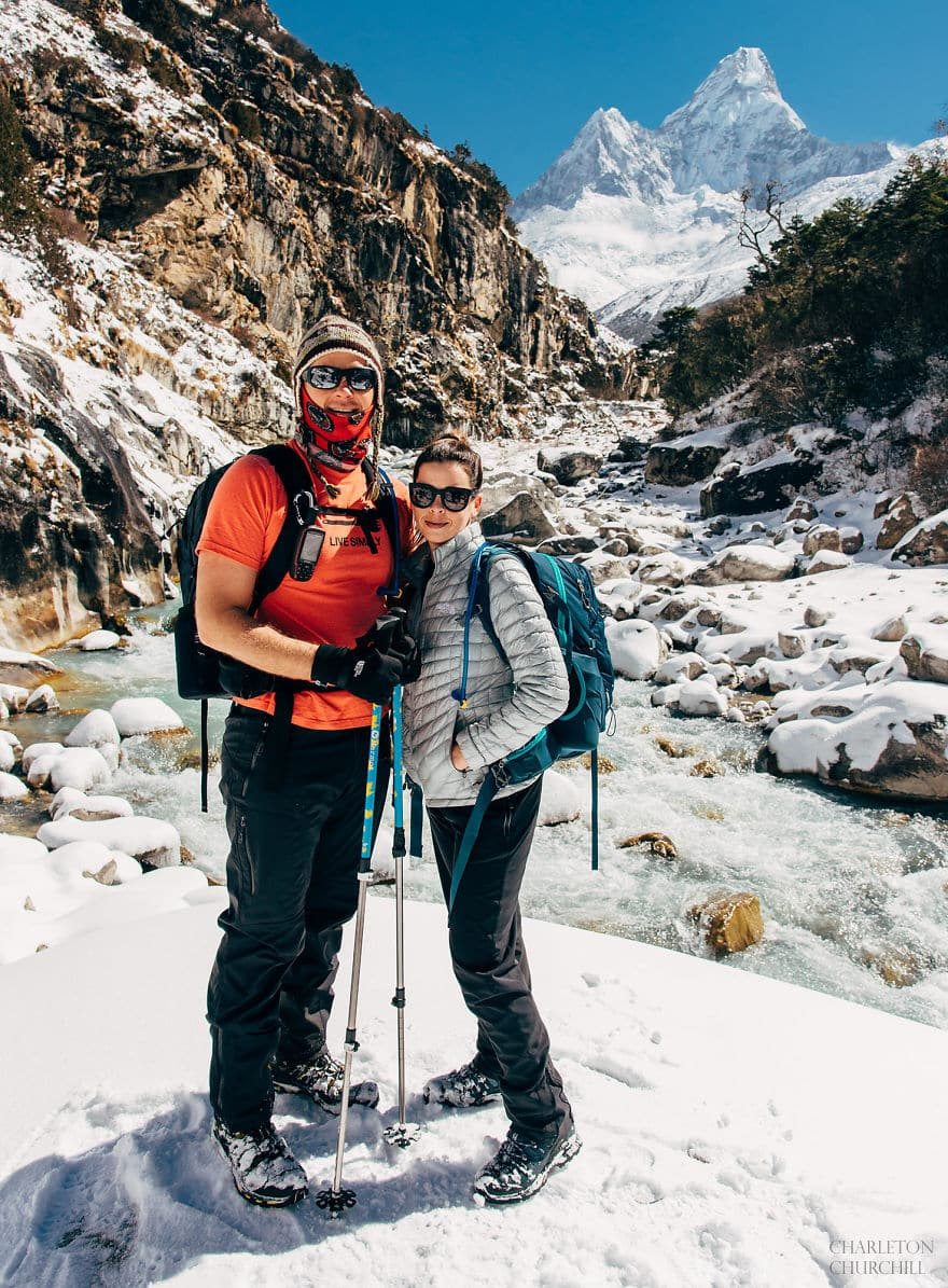 Молодожены в горах