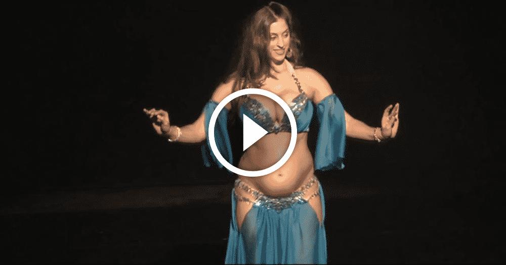 Танец живота беременной женщины