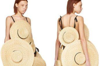 Суперплатье из шляп