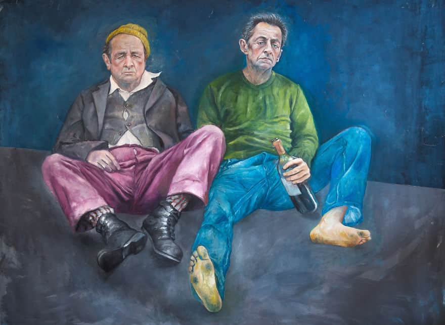 Оланд и Саркози