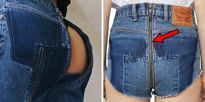 джинсы с открытой задницей