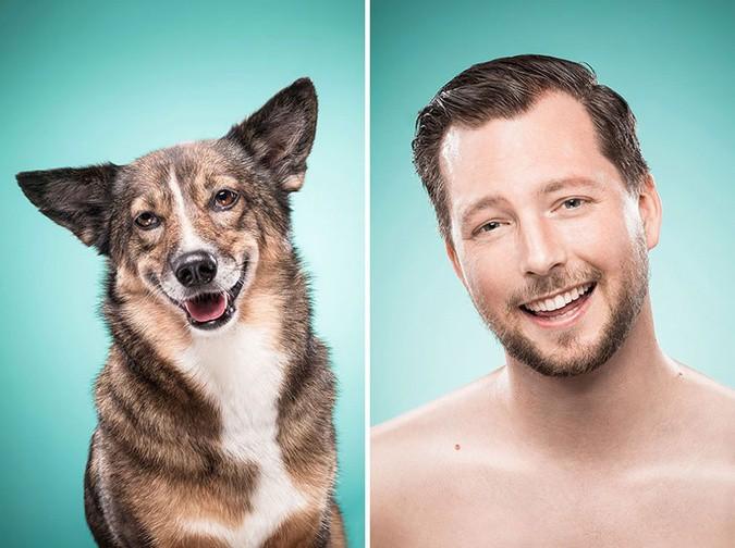 Мимика собаки и хозяев
