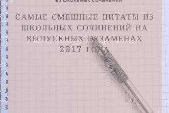 Ляпы в школьных сочинениях