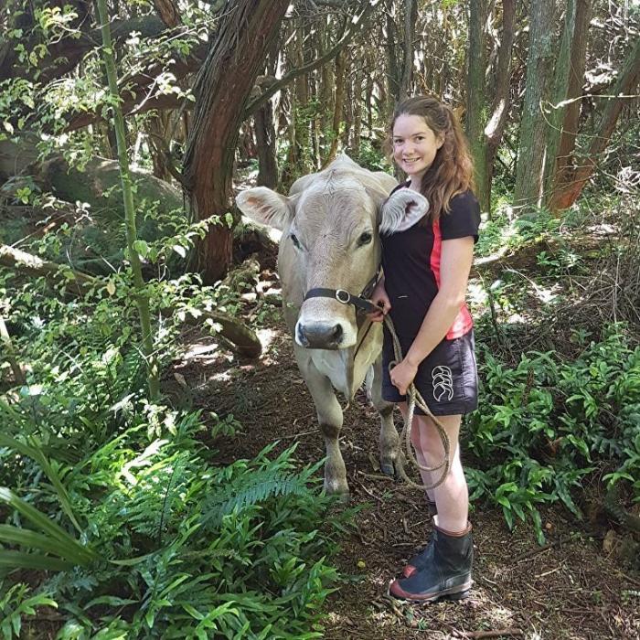 Укротительница коров из Новой Зеландии