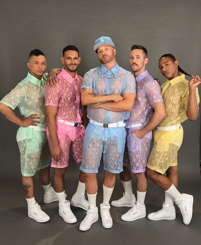 Кружевные шорты для мужчин