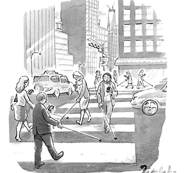 Карикатуры на смартфонозависимость