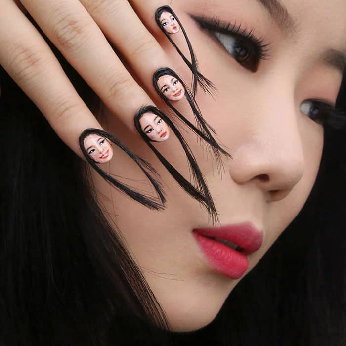 hair-selfie-nails-art-tiny-faces-designdain
