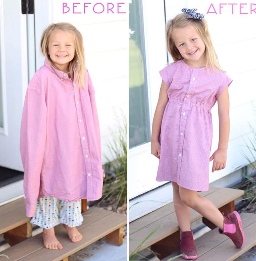 old_dad_shirt_dress_girl